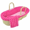 Twisted Fur Moses Basket Set in Fuchsia
