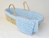 Twisted Fur Moses Basket Set in Light Blue