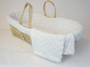 Twisted Fur Moses Basket Set in White
