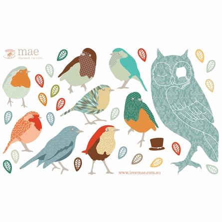 Twitters Earthy Fabric Wall Decals