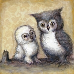 Two Little Hoots Canvas Wall Art