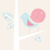 Two Modern Birdies Canvas Wall Art