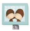 Two of a Kind Powder Blue Night Light