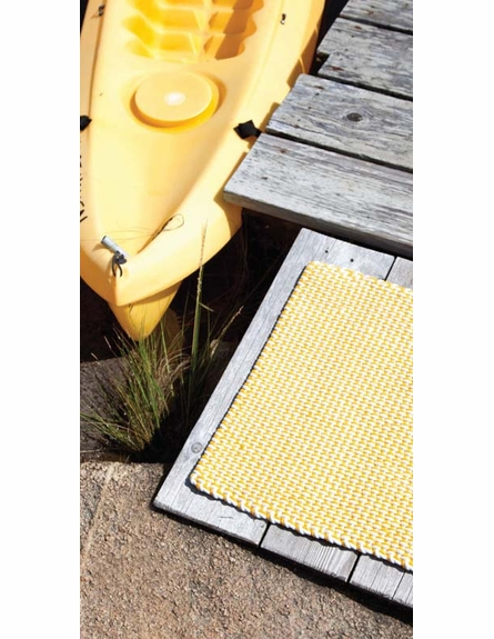 Two Tone Rope Indoor/Outdoor Rug in Daffodil and White
