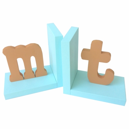 Typewriter Initial Solid Bookends