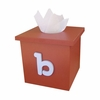 Typewriter Initial Solid Tissue Box Cover
