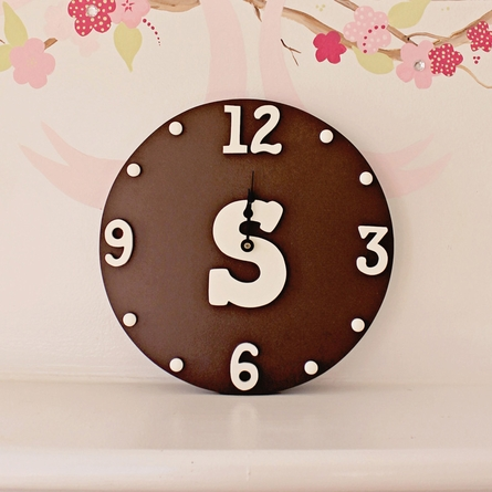 Typewriter Initial Solid Wall Clock