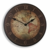 Unchartered Territory World Map Kids Clock