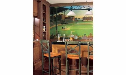Under The Lights Chair Rail XL Wall Mural