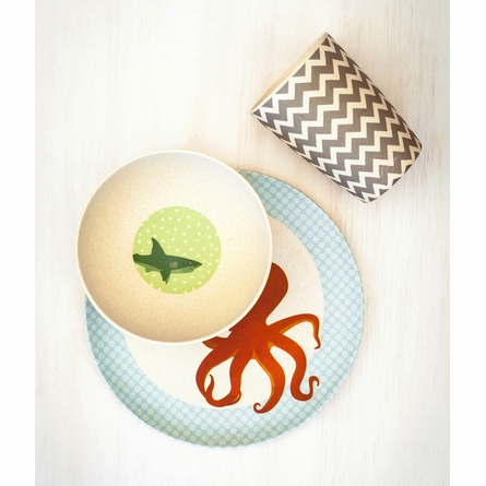 Under the Sea Bamboo Dinner Set
