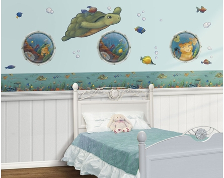 Undersea Pre-Pasted Wallpaper Border