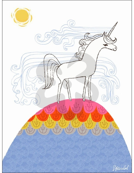 Unicorn Hill Canvas Wall Art