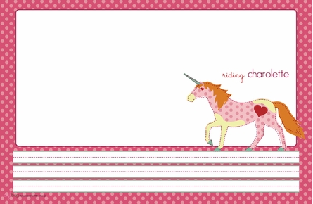 Unicornetta Personalized Kids Reversible Placemat