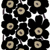 Unikko Black Blooms (100% Cotton)