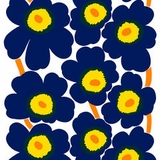Unikko Navy Blooms (100% Cotton)