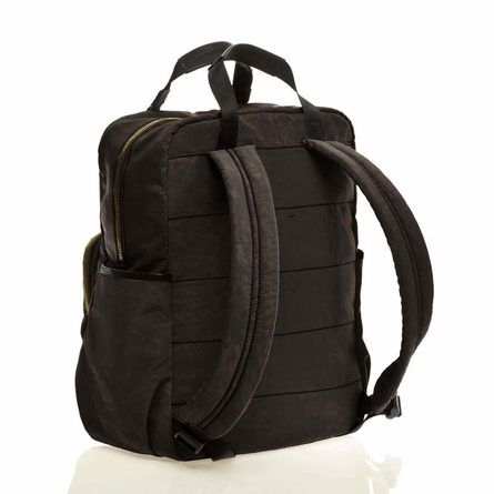 Unisex Courage Backpack Diaper Bag in Black