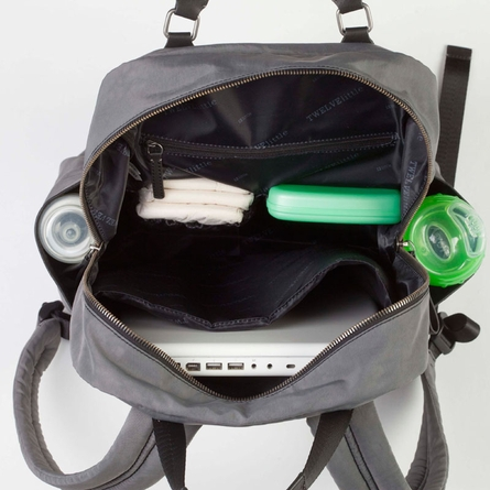 Unisex Courage Backpack Diaper Bag in Grey