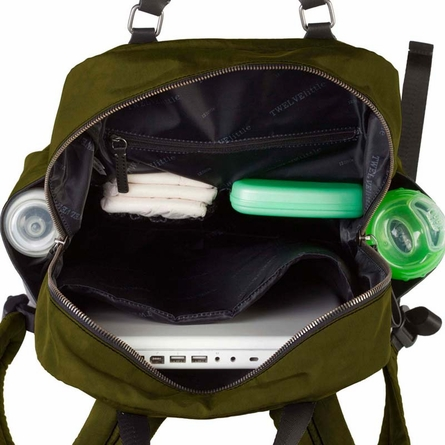 Unisex Courage Backpack Diaper Bag in Olive