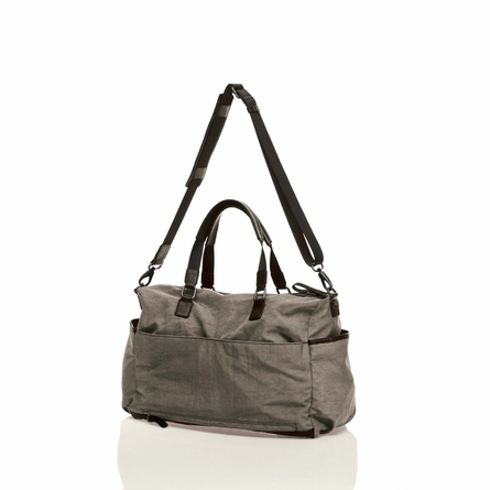 Unisex Courage Satchel Diaper Bag in Grey
