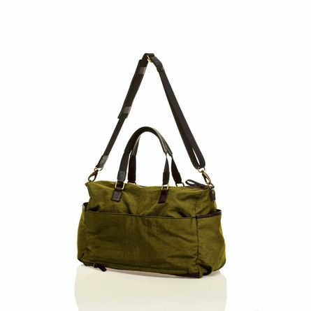 Unisex Courage Satchel Diaper Bag in Olive