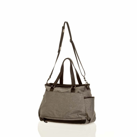 Unisex Courage Tote Diaper Bag in Grey