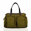Unisex Courage Tote Diaper Bag in Olive