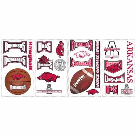 University of Arkansas Peel & Stick Applique
