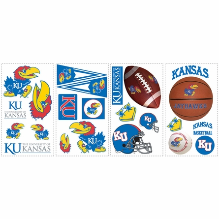 University of Kansas Peel & Stick Applique