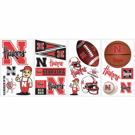 University of Nebraska Peel & Stick Applique
