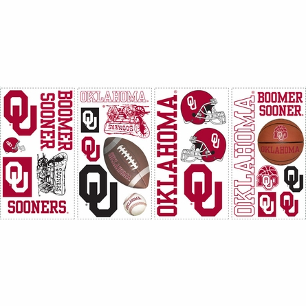 University of Oklahoma Peel & Stick Applique
