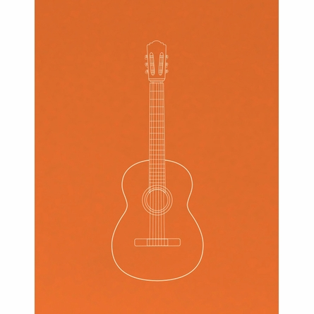 Unplugged Guitar Art Print