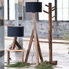 Unysn Elm Floor Lamp with Black Shade