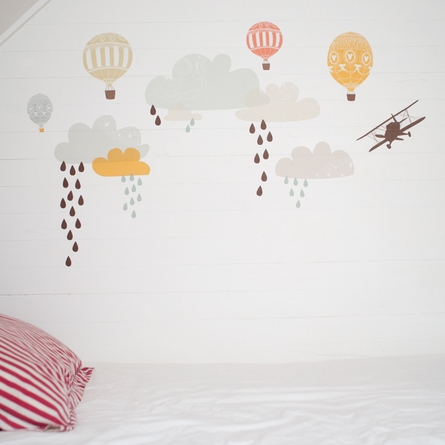 Up Up & Away Fabric Wall Decals