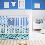 Uptown in Electric Blue Crib Bedding Set
