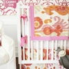 On Sale Urban Ikat in Fuchsia Crib Bumper