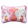 Urban Ikat in Fuchsia Throw Pillow