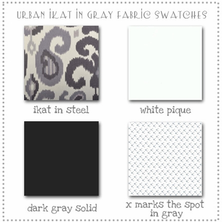 Urban Ikat in Gray Crib Bedding Set