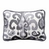 Urban Ikat in Gray Throw Pillow