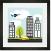 Urban Landscape Framed Art Print