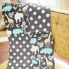 Urban Zoo in Gray Baby Blanket