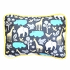 Urban Zoo in Gray Throw Pillow