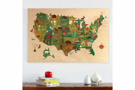 USA Jumbo Wood Panel Art Print