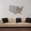 USA Map Wooden Wall Art