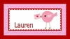 Valentine's Tweet Personalized Placemat