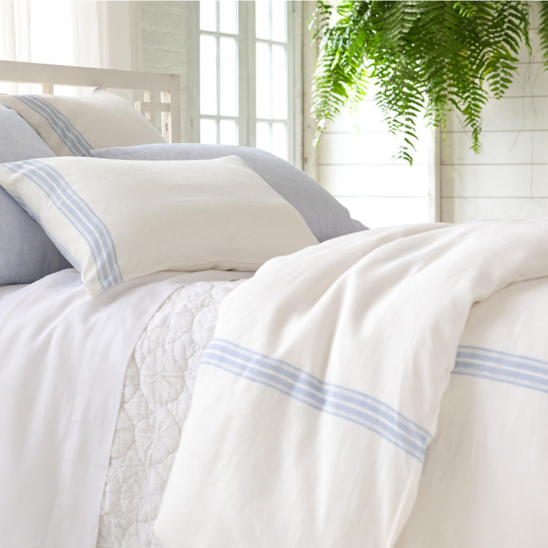 Varana Linen French Blue Duvet Cover By Pine Cone Hill
