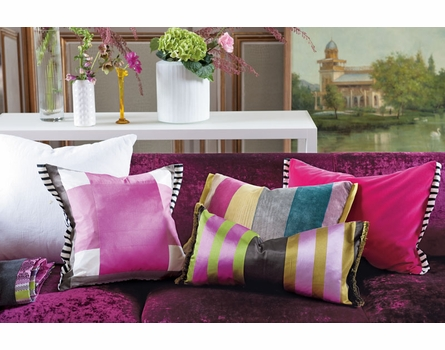 Varese Fuchsia Reversible Throw Pillow