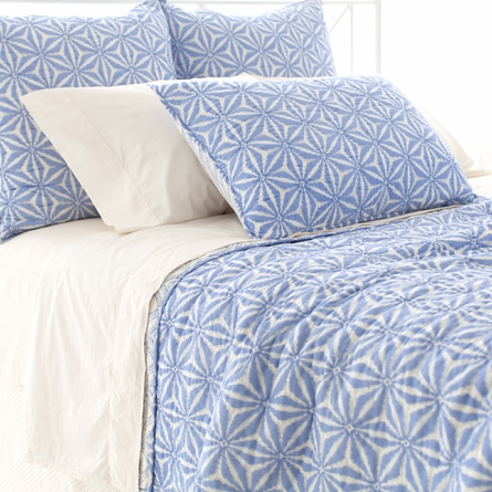 Varkala French Blue Euro Sham