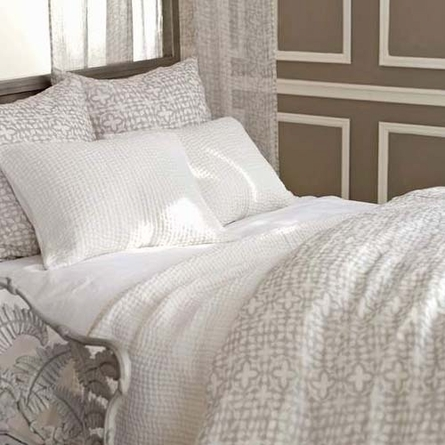 Veena Grey Duvet Cover
