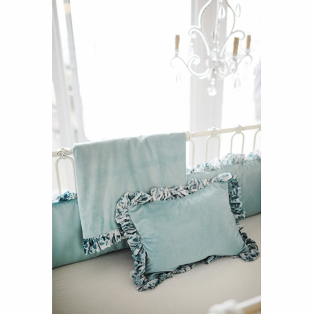 Velvet Baby in Aqua Crib Bedding Set