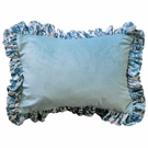 Velvet Baby in Aqua Throw Pillow